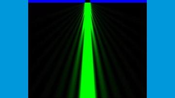 ketika melewati celah sempit maka cahaya akan disebarkan atau disebut difraksi cahaya