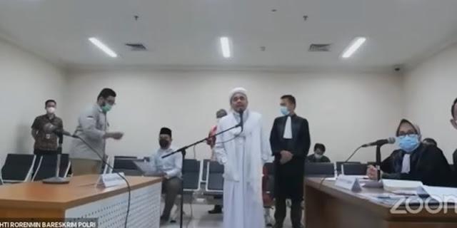 Habib Rizieq Sempat Potong Tanggapan Jaksa: Saya Ingin Hentikan Kebohongan!