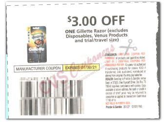 $3.00/1-Gillette Razor Coupon
