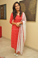 Anasuya Bharadwaj in Red at Kalamandir Foundation 7th anniversary Celebrations ~  Actress Galleries 037.JPG