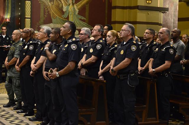 Guarda Civil Metropolitana participa de missa em homenagem ao seu aniversário de fundação