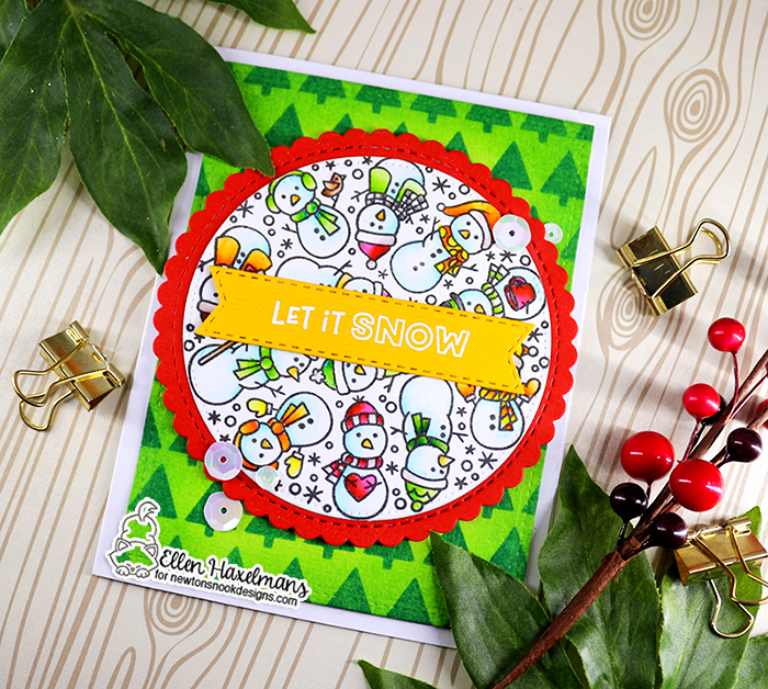 #newtonsnookdesigns #nnd #card #cardmaking #stamps #distress #ink #handmade #stamp #set #dies #zigmaker #ZIG #Clean #Color #Real #Brush #markers #watercolor #card #blog #hop #2020 #winter #release #christmas #tiny #trees #stencil #Snowman #roundabout #paperart #hobby #drawing #Release #November #Banner #Trio #Circle #Frames #Die #Set