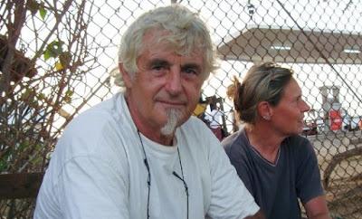 German national Jurgen Kantner and his partner, Sabine Merz, in 2009