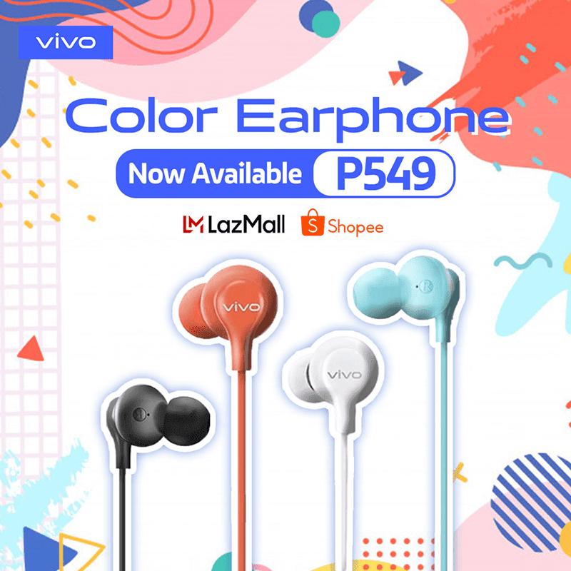 vivo Color Earphone LazMall and Shopee availability