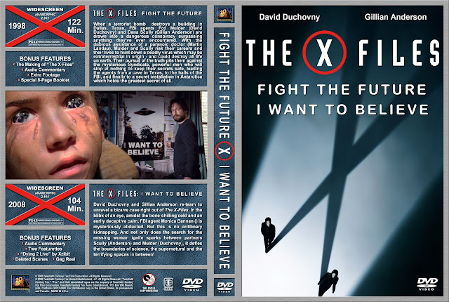 The X Files Fight The Future / I Want To Believe Collection DVD Cover