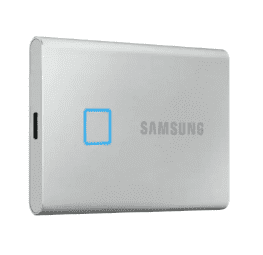 $85, 500GB Samsung T7 Touch USB 3.2 Gen 2 Portable Solid State Drive SSD