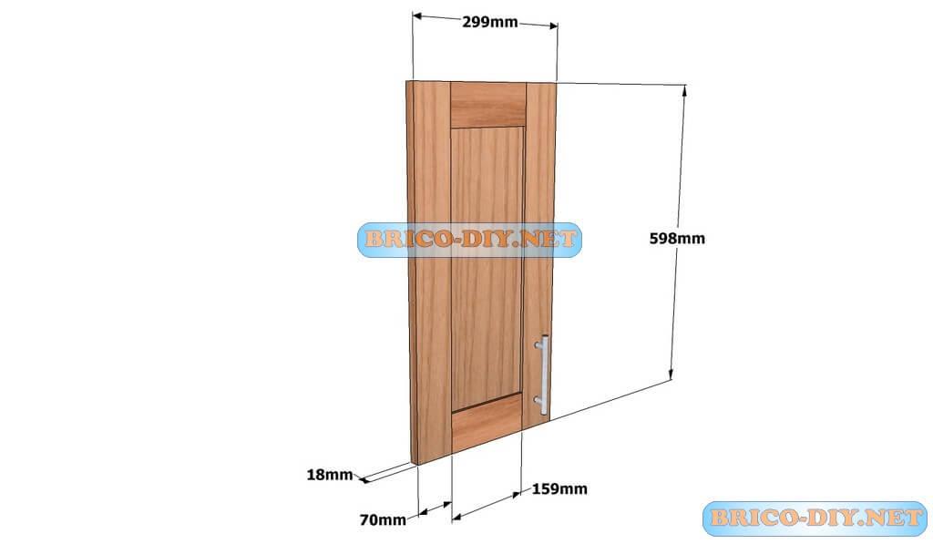 Mueble de cocina plano alacena de madera cedro 60 cm de for Planos para hacer una cocina de juguete
