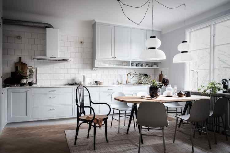 A Soothing Swedish Home In Shades of Green and Grey
