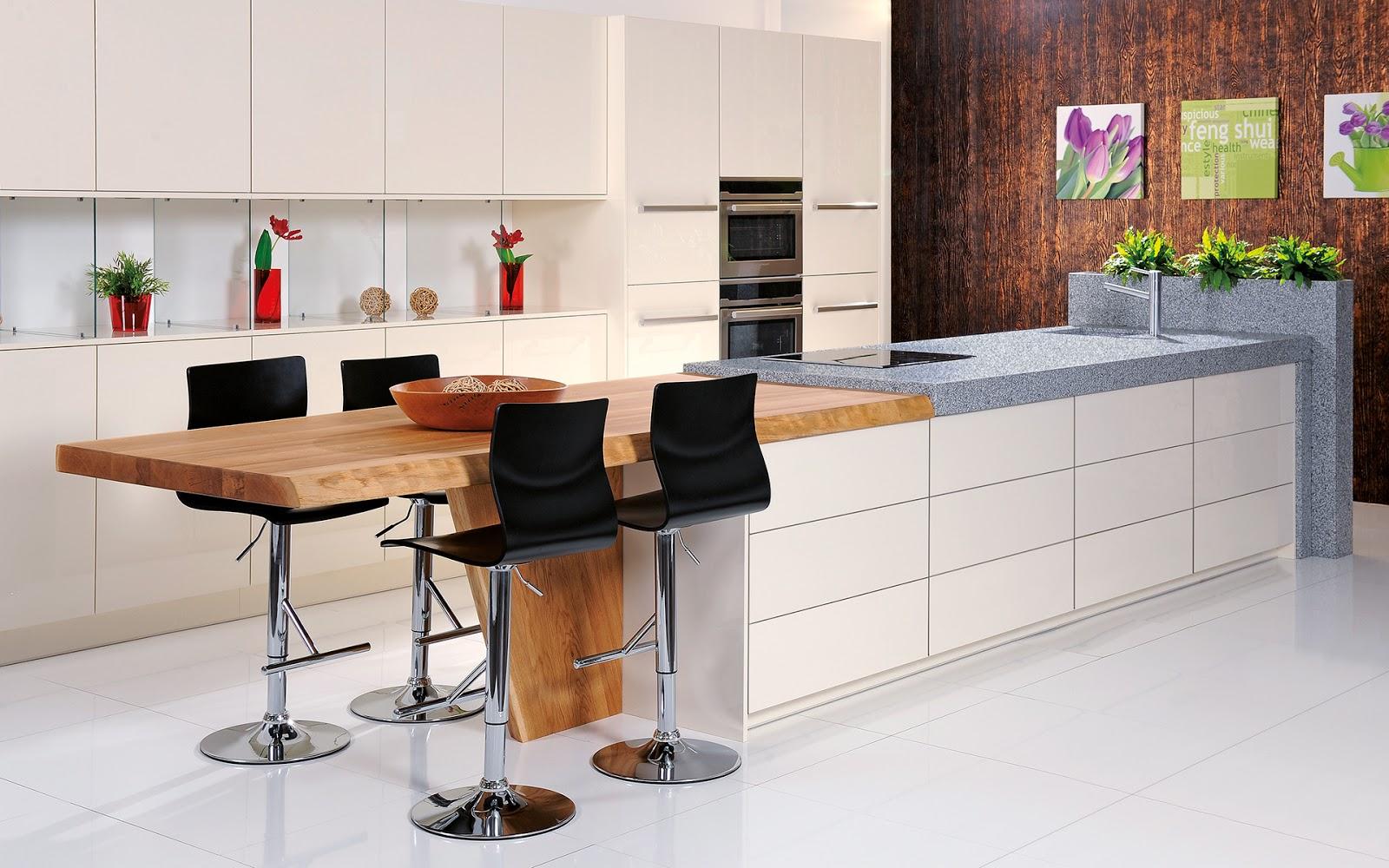 30 ideas de mesas y barras para comer en la cocina for Isla de cocina con mesa