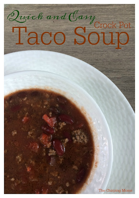 Slow Cooker Taco Soup    The Chirping Moms