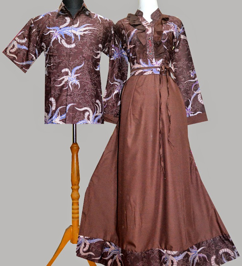 model baju batik couple lengan panjang