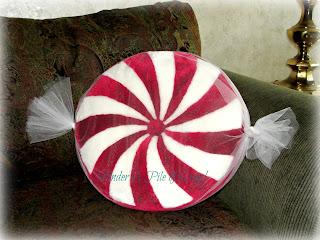 pillow, Christmas decor, holiday pillow, candy cane,