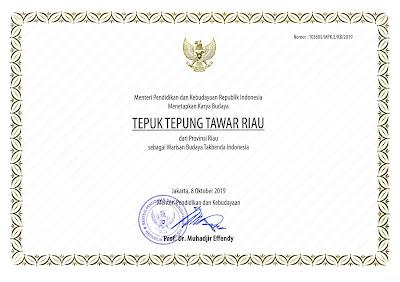 Warisan Budaya Tak Benda Riau 2019 Tepuk Tepung Tawar Riau
