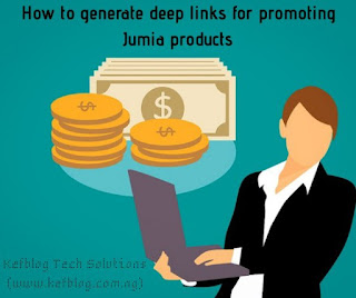 How to generate deep links for promoting Jumia products