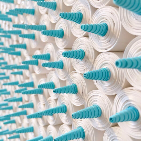 detail of dimensional quilled coils