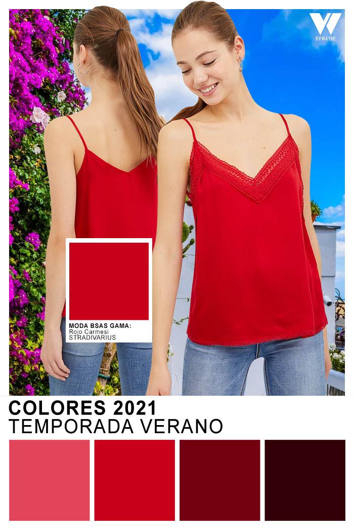 Moda colores primavera verano 2021 Rojo Carmesi