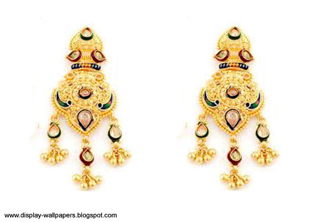 Wallpapers Download: Pure Gold Earrings Designs For Girls