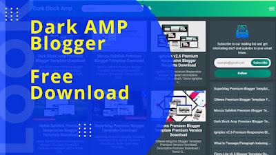 Dark Amp Blogger Template