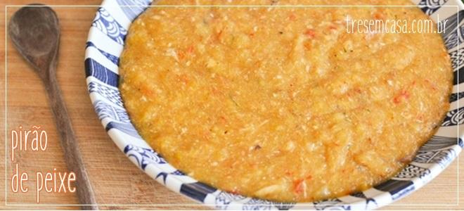 receita de pirão de peixe