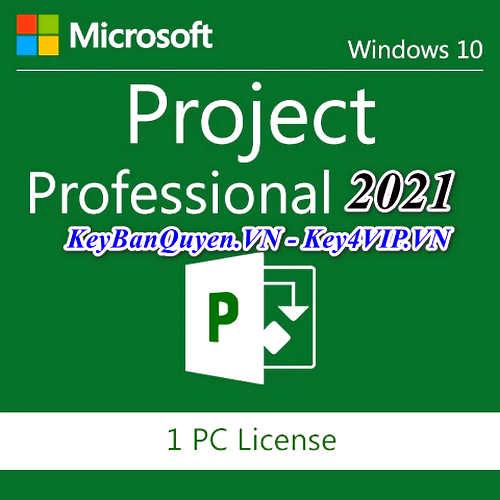 Mua bán key bản quyền Project Professional 2021 Vĩnh Viễn - Giá Rẻ.