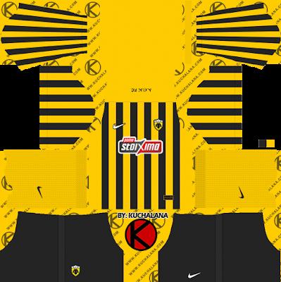 Bộ dụng cụ AEK FC 2021/22 - Bộ dụng cụ DLS2019