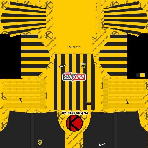 AEK F.C. Kits 2021/22 -  DLS2019 Kits