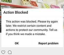 Cara Mengatasi Action Blocked Instagram