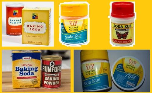 Perbedaan Baking Soda, Soda Kue & Baking Powder