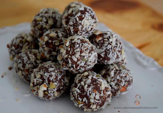 Trufas de chocolate nutritivas