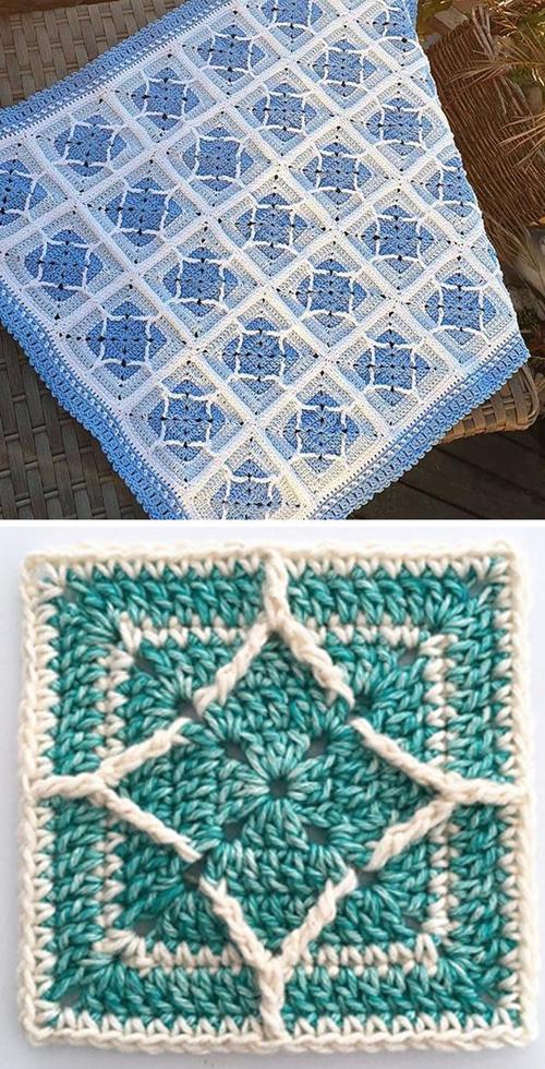 Northern Diamond Square - Free Pattern