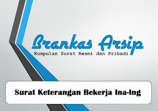 logo postingan contoh surat keterangan bekerja dalam bahasa Inggris