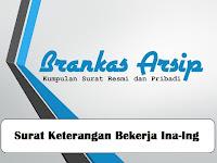 Contoh Surat Keterangan Bekerja  Bahasa Indonesia & Inggris