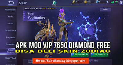 Apk Mobile Legends Mod VIP Dapat Diamond Gratis