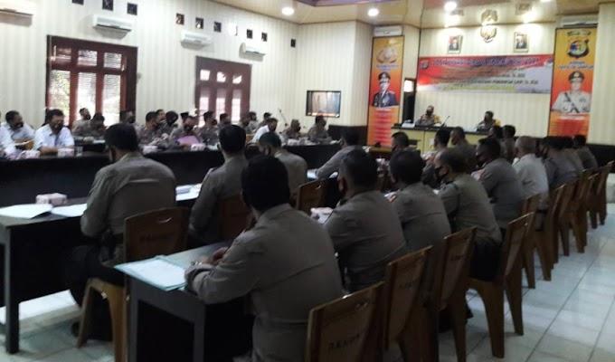 Kapolres Lampung Utara Pimpin Sosialisasi DIPA T.A.2021