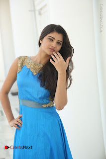 Telugu Actress Akshita (Pallavi Naidu) Latest Stills in Blue Long Dress at Inkenti Nuvve Cheppu Movie Promotions  0071.jpg