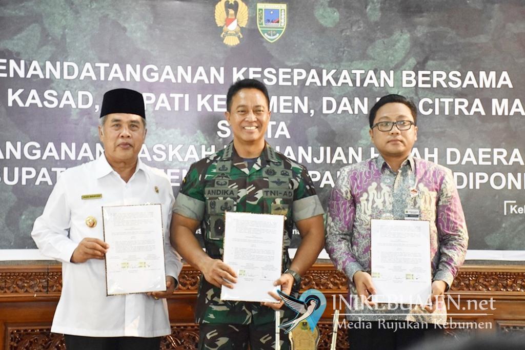 Tanah Pemkab Kebumen Seluas 50.017 Meter Persegi Resmi Dihibahkan ke TNI AD