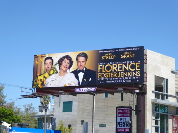 Florence Foster Jenkins movie billboard