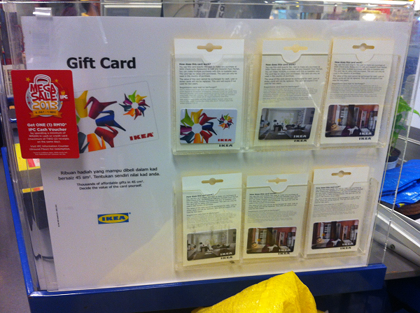 Gift card available at IKEA