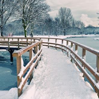 Karlı Nehir Köprüsü Hd Duvar Kağıdı