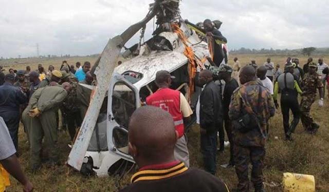 Kenyan military chopper crashes, kill 2 officers