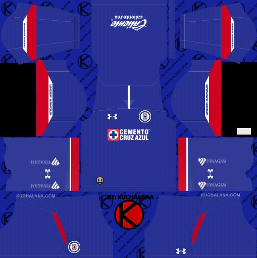 34f49040f82 Cruz Azul 2018/19 Kit - Dream League Soccer Kits - Kuchalana