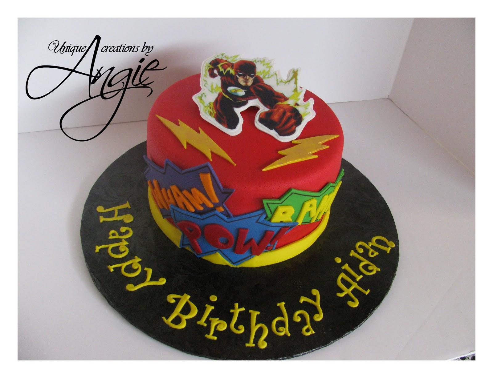 Scrappin Memories Flash Super Hero Cake