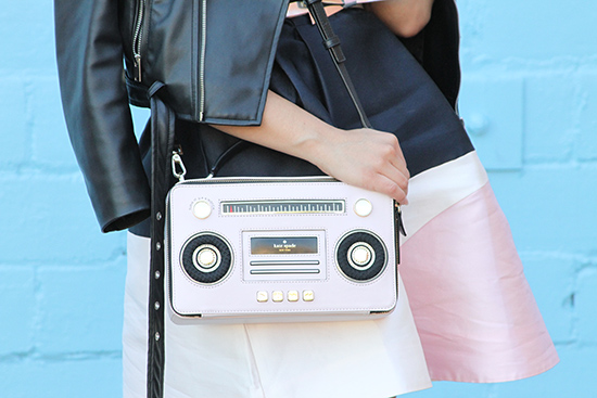 Kate Spade Pink Boombox Novelty Bag | Will Bake for Shoes