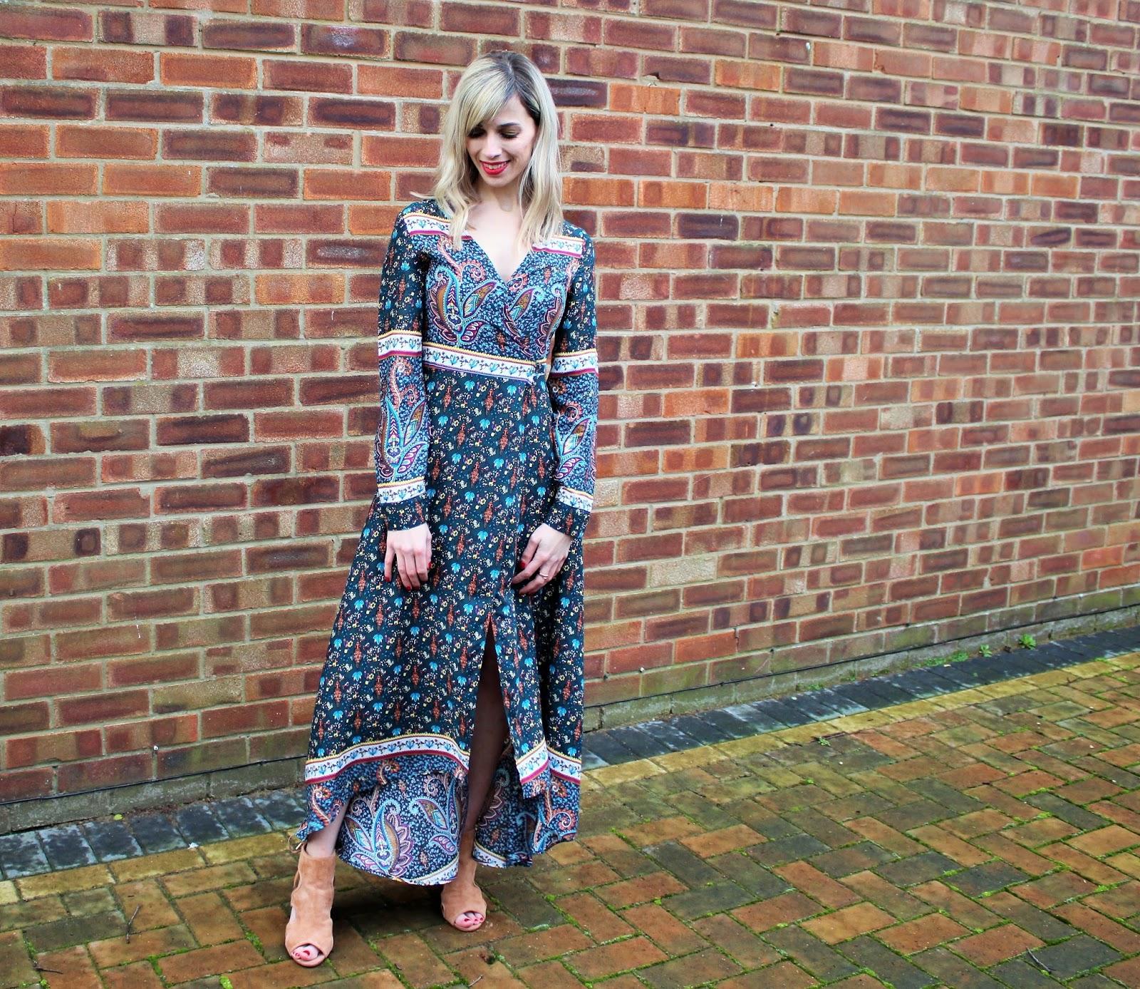OOTD featuring a Shein wraparound maxi dress - 2