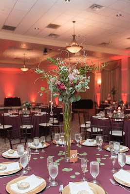 wedding reception tall centerpiece