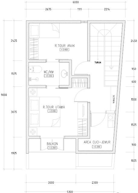 desain rumah dilahan yang sangat sempit