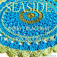 how to crochet, free crocet patterns, doily, placemat, mandala,