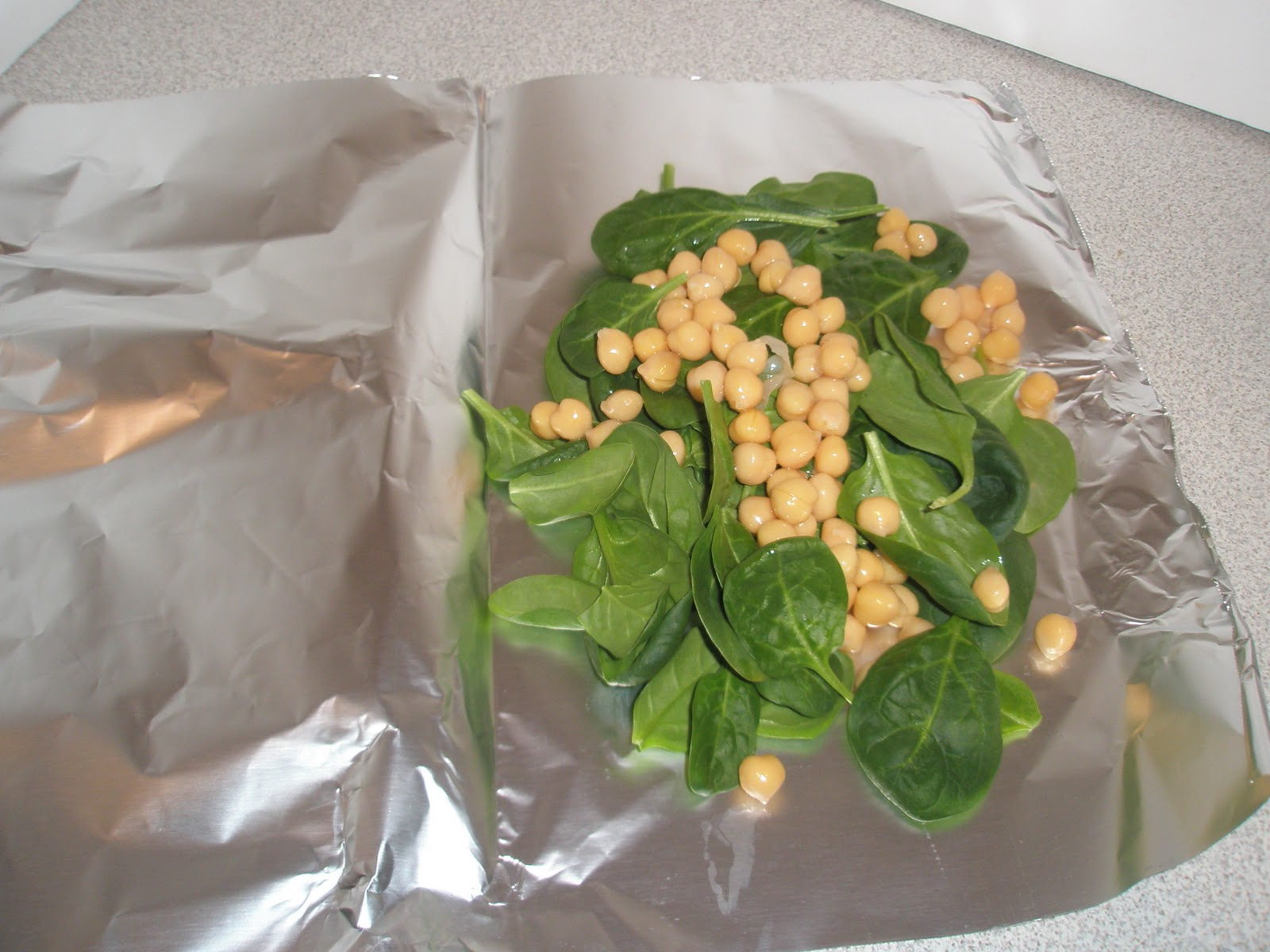 Got It Cook It Salmon Spinach Amp Garbonzo Beans Baked In