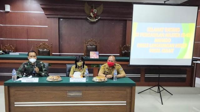 Sosialisasi ECO-OFFICE  DLH Sulut dan PENGADILAN MILITER III-17 MANADO