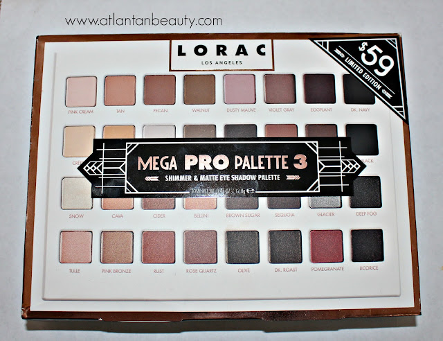 Outer packaging of the Lorac Mega Pro 3 Palette